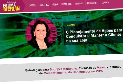 Site informativo para palestrante Fátima Merlin
